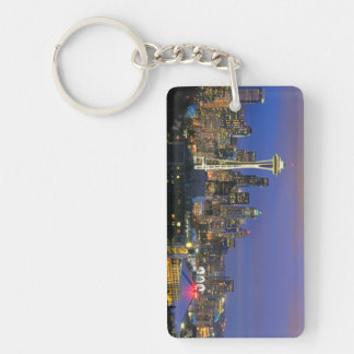 Seattle seen from Kerry Park in Queen Anne Rectangular Acrylic Keychains