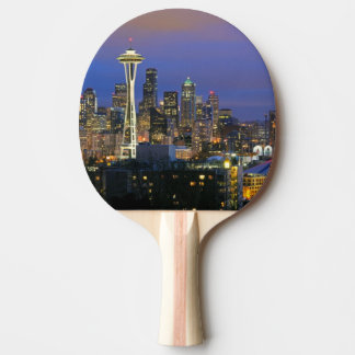 Seattle seen from Kerry Park in Queen Anne Ping Pong Paddle