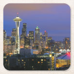 """Seattle seen from Kerry Park in Queen Anne Square Paper Coaster<br><div class=""""desc"""">Seattle Skyline</div>"""