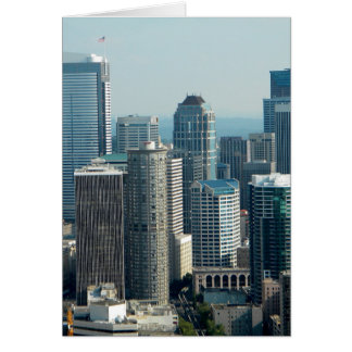 Seattle Sky Greeting Cards