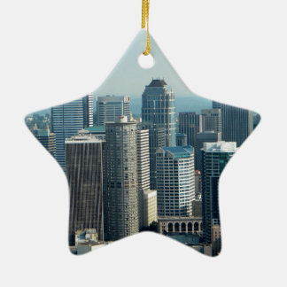 Seattle Sky Ceramic Ornament