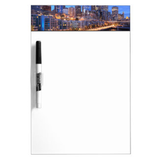 Seattle skyline and harbor, Washington State Dry-Erase Board
