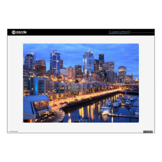 Seattle skyline and harbor, Washington State Laptop Decals
