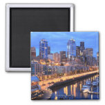 Seattle skyline and harbor, Washington State Magnet
