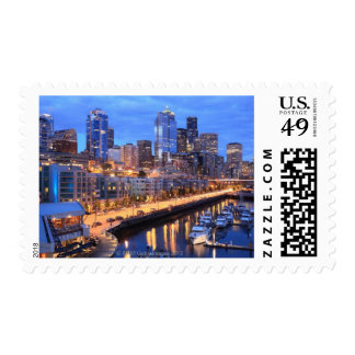 Seattle skyline and harbor Washington State Stamps