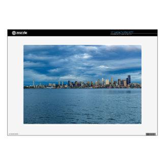 Seattle Skyline at Dusk Laptop Decal