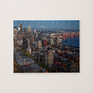 Seattle Skyline at dusk Puzzle