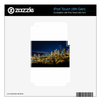 Seattle Skyline at Night Decal For iPod Touch 4G