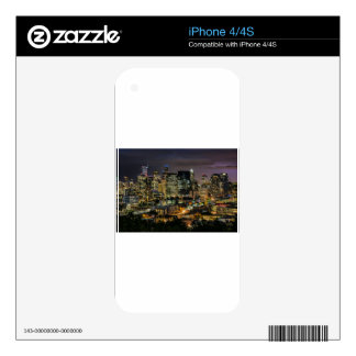 Seattle Skyline at Night iPhone 4 Decal