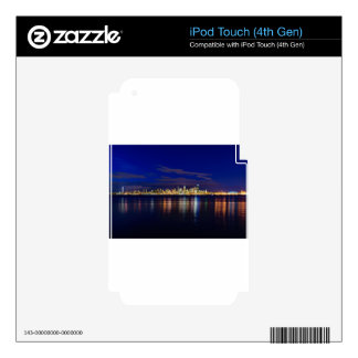 Seattle Skyline at Night iPod Touch 4G Skin