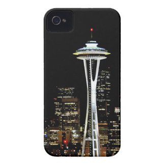 Seattle skyline at night, with Space Needle. iPhone 4 Cases