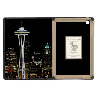 Seattle skyline at night, with Space Needle. iPad Mini Retina Covers
