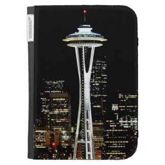 Seattle skyline at night, with Space Needle. Kindle Covers