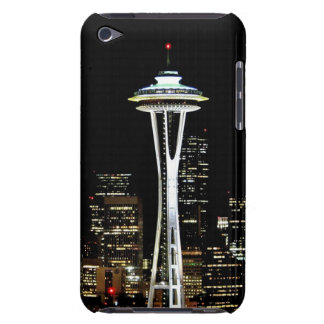 Seattle skyline at night, with Space Needle. iPod Case-Mate Cases