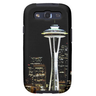 Seattle skyline at night, with Space Needle. Samsung Galaxy S3 Case