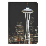 Seattle skyline at night, with Space Needle. Kindle Touch Cover