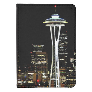 Seattle skyline at night, with Space Needle. Kindle Touch Case