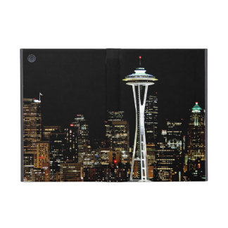 Seattle skyline at night, with Space Needle. iPad Mini Covers