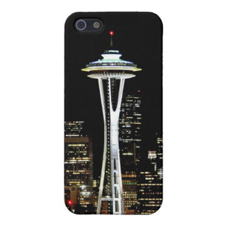 Seattle skyline at night, with Space Needle. Covers For iPhone 5