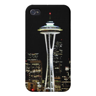 Seattle skyline at night, with Space Needle. iPhone 4/4S Cases