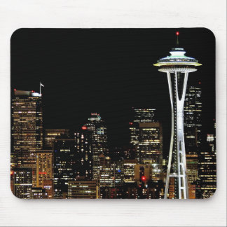 Seattle skyline at night, with Space Needle. Mouse Pad