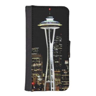 Seattle skyline at night, with Space Needle. Phone Wallets