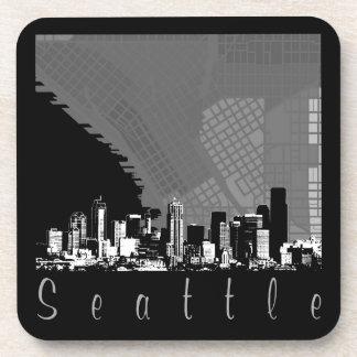Seattle Skyline Beverage Coasters