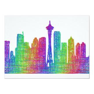 Seattle skyline card