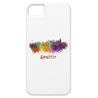 Seattle skyline in watercolor iPhone SE/5/5s case