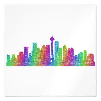 Seattle skyline magnetic card