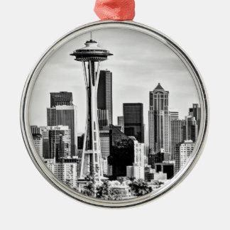 Seattle Skyline Metal Ornament