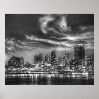 Seattle Skyline Print