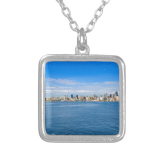Seattle Skyline Silver Plated Necklace