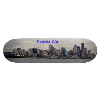 Seattle skyline skateboard