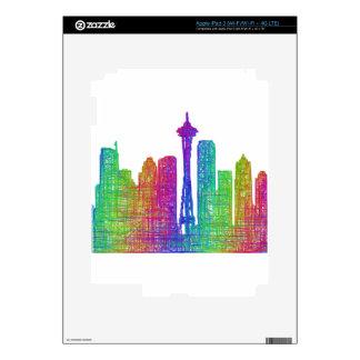 Seattle skyline skin for iPad 3