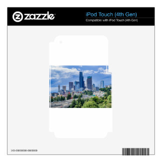 Seattle Skyline Skins For iPod Touch 4G