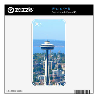 Seattle Skyline Space Needle Decals For The iPhone 4S