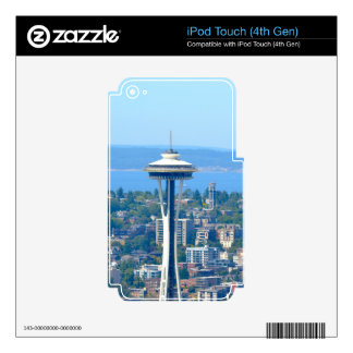 Seattle Skyline Space Needle iPod Touch 4G Decals