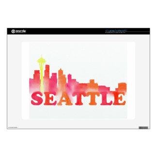 Seattle skyline warm laptop skins