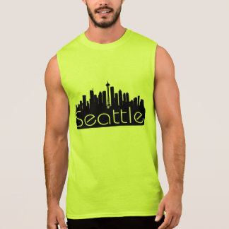SEATTLE SKYLINE WASHINGTON STATE SLEEVELESS SHIRT