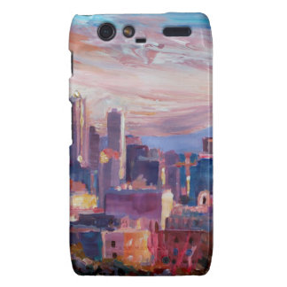 Seattle Skyline With Space Needle And Mt Rainier Droid RAZR Cases