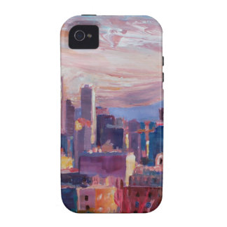 Seattle Skyline With Space Needle And Mt Rainier Vibe iPhone 4 Covers
