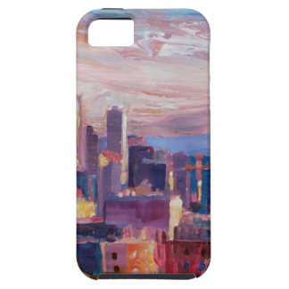 Seattle Skyline With Space Needle And Mt Rainier iPhone 5 Covers