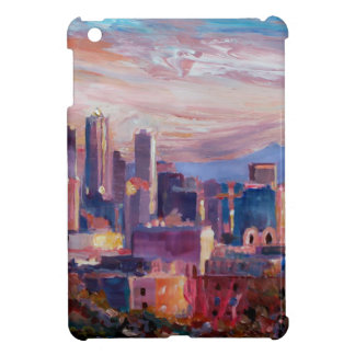 Seattle Skyline With Space Needle And Mt Rainier iPad Mini Cases