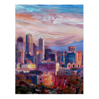 Seattle Skyline With Space Needle And Mt Rainier Postcard