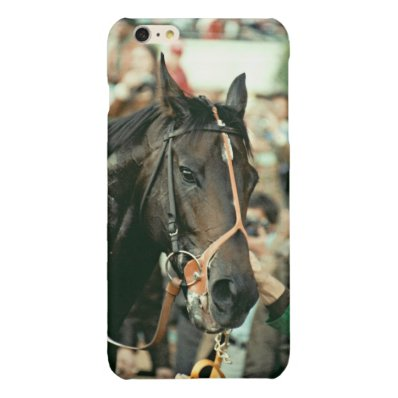 Seattle Slew Thoroughbred 1978 Glossy iPhone 6 Plus Case