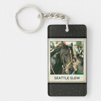 Seattle Slew Thoroughbred 1978 Keychain