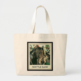 Seattle Slew Thoroughbred 1978 Large Tote Bag