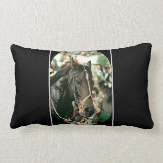 Seattle Slew Thoroughbred 1978 Lumbar Pillow