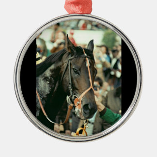 Seattle Slew Thoroughbred 1978 Metal Ornament